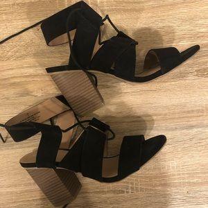 Worn once! black block heels 😊